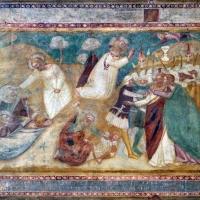 Scuola bolognese, ciclo dell'abbazia di pomposa, 1350 ca., nuovo testamento, 13 orazione nell'orto e cattura - Sailko - Codigoro (FE)