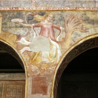 Scuola bolognese, ciclo dell'abbazia di pomposa, 1350 ca., apocalisse, 16 bebilonia grande meretrice 1 - Sailko - Codigoro (FE)
