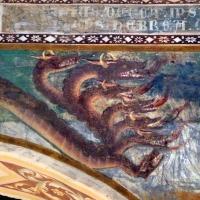 Scuola bolognese, ciclo dell'abbazia di pomposa, 1350 ca., apocalisse, 09 drago 2 - Sailko - Codigoro (FE)