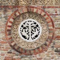 Pomposa, abbazia, atrio di mazulo del 1000-1050 ca., decori in cotto e in marmo 13 - Sailko - Codigoro (FE)