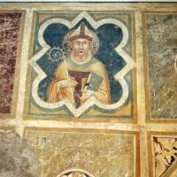 Scuola riminese, affreschi geometrici con bustini di santi, 1350-1400 ca. 02 - Sailko - Codigoro (FE)