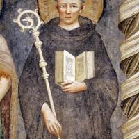 Pomposa, abbazia, refettorio, affreschi giotteschi riminesi del 1316-20, deesis 05 san guido - Sailko - Codigoro (FE)