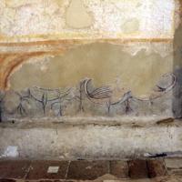 Pomposa, abbazia, interno, profeti e pontefici dell'XI secolo sotto gli affreschi trecenteschi 03 uccelli - Sailko - Codigoro (FE)