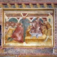 Scuola bolognese, ciclo dell'abbazia di pomposa, 1350 ca., vecchio testamento, 09 giuseppe perdona i fratelli - Sailko - Codigoro (FE)