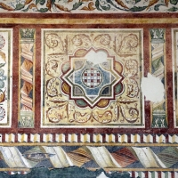 Pomposa, abbazia, refettorio, affreschi giotteschi riminesi del 1316-20, ornati 05 - Sailko - Codigoro (FE)