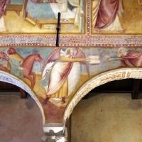 Scuola bolognese, ciclo dell'abbazia di pomposa, 1350 ca., apocalisse, 07 consegna del libro 1 - Sailko - Codigoro (FE)