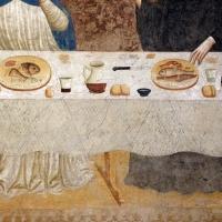 Pomposa, abbazia, refettorio, affreschi giotteschi riminesi del 1316-20, miracolo dell'abate guido strambiati 04 tavola - Sailko - Codigoro (FE)
