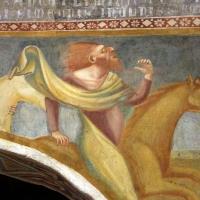 Scuola bolognese, ciclo dell'abbazia di pomposa, 1350 ca., apocalisse, 05 quattro cavalieri 4,1 verdastro - Sailko - Codigoro (FE)