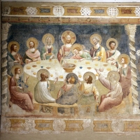 Pomposa, abbazia, refettorio, affreschi giotteschi riminesi del 1316-20, ultima cena 01 - Sailko - Codigoro (FE)