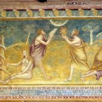 Scuola bolognese, ciclo dell'abbazia di pomposa, 1350 ca., vecchio testamento, 01 adamo, eva, caino e abele 1 - Sailko - Codigoro (FE)