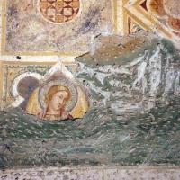 Scuola riminese, affreschi geometrici con bustini di santi, 1350-1400 ca. , affioramenti dell'XI secolo 04 - Sailko - Codigoro (FE)