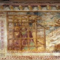 Scuola bolognese, ciclo dell'abbazia di pomposa, 1350 ca., vecchio testamento, 12 daniele tra i leoni - Sailko - Codigoro (FE)