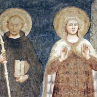 Pomposa, abbazia, refettorio, affreschi giotteschi riminesi del 1316-20, deesis 02 s. benedetto e maria - Sailko - Codigoro (FE)