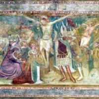Scuola bolognese, ciclo dell'abbazia di pomposa, 1350 ca., nuovo testamento, 14 crocifissione - Sailko - Codigoro (FE)
