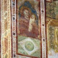 Vitale da bologna e aiuti, cristo in maestà, angeli, santi e storie di s. eustachio, 1351, 15 madonna col bambino in fasce - Sailko - Codigoro (FE)
