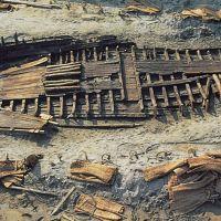 Valle Trebba. Scafo di nave romana - Rebeschini - Comacchio (FE)