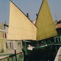 Canale di Comacchio con imbarcazione tipica - Rebeschini - Comacchio (FE)