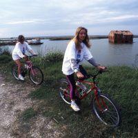 Ciclisti nelle valli di comacchio - rebeschini - Comacchio (FE)