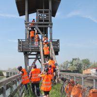 Valli e Salina, torretta birdwatching con biciclette - Servizio turismo - Comacchio (FE)