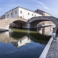 Ponte degli Sbirri con ex carceri - Vanni Lazzari - Comacchio (FE)