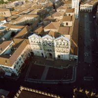 Cattedrale. veduta aerea - baraldi - Ferrara (FE)