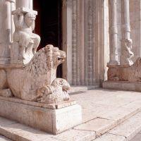 Cattedrale. particolare del protiro - baraldi - Ferrara (FE)