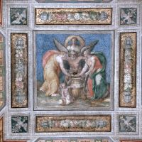 Castello Estense. Particolare affresco della Saletta dell'Aurora - Baraldi - Ferrara (FE)