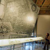 Castello Estense. Pannello con pianta del Bolzoni - baraldi - Ferrara (FE)