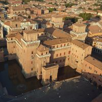Castello Estense. Veduta aerea - baraldi - Ferrara (FE)