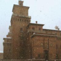 Castello Estense con la neve - baraldi - Ferrara (FE)