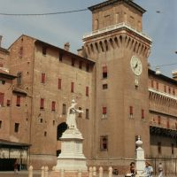 Castello Estense visto da piazza Savonarola - samaritani - Ferrara (FE)