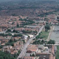 veduta aerea della città. Po di Volano - Baraldi - Ferrara (FE)