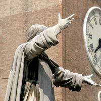 statua di Girolamo Savonarola - Samaritani - Ferrara (FE)