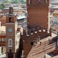 veduta tetti. Piazza cattedrale - baraldi - Ferrara (FE)