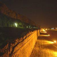 veduta notturna delle mura - corbelli - Ferrara (FE)