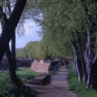mura cinquecentesche, percorso pedonale - zappaterra - Ferrara (FE)