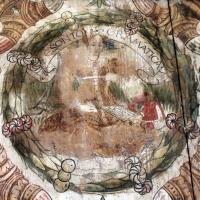 Particolare affresco parete lignea sala piano nobile - Manuela Mattana - Ferrara (FE)