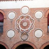 Particolare facciata su cortile d'onore - Manuela Mattana - Ferrara (FE)