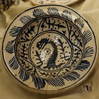 Faenza, scodella di produzione italo-moresca, 1490-1510 ca - Sailko - Ferrara (FE)