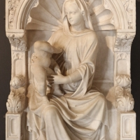 Scuola veneta, madonna in trono col bambino, xv secolo, dal piccolo chiostro della certosa di ferrara, 01 - Sailko - Ferrara (FE)