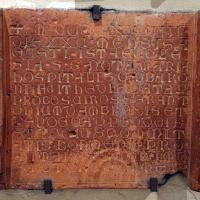 Lapide in cotto da s. niccolò della scarsella ad argenta, 1292 - Sailko - Ferrara (FE)