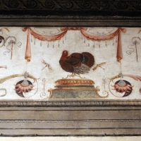 Casa romei, sala della scimmia, 02 tacchino - Sailko - Ferrara (FE)