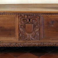 Nord-italia, cassone in legno di noce del 1500-50 ca - Sailko - Ferrara (FE)