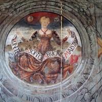 Particolare affresco parete in legno sala piano nobile - Manuela Mattana - Ferrara (FE)