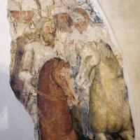 Artista bolognese o veneto, guerrieri a cavallo e uomoni inginocchiati, 1350-1400 ca., da sacello del campanile di s. stefano, ferrara 03 - Sailko - Ferrara (FE)