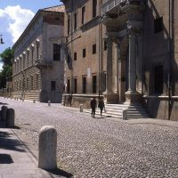 corso Ercole d'Este con Palazzo Prosperi-Sacrati e Palazzo Diamanti - rebeschini - Ferrara (FE)