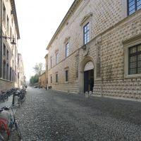 Corso Ercole I d'Este, Palazzo dei Diamanti con biciclette - Massimo Baraldi - Ferrara (FE)