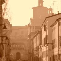 Il castello Estense visto da Palazzo dei Diamanti - Paola battecca - Ferrara (FE)