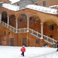 piazza Municipale con la neve - baraldi - Ferrara (FE)