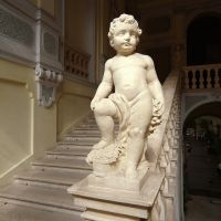 Palazzo di Renata di Francia. Interno con putto in marmo - Baraldi - Ferrara (FE)